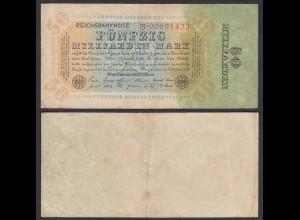 Ro 116a - 50 Milliarden Mark 1923 Pick 119 Serie B - F (4) (29547