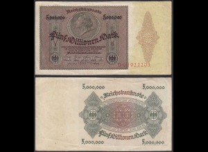 Ro 88 - 5 Millionen Mark 1923 Pick 90 Serie D - VF (3) (29550