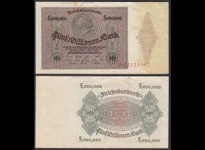 Ro 88 - 5 Millionen Mark 1923 Pick 90 Serie D - VF- (3-) (29551