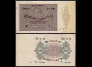 Ro 88 - 5 Millionen Mark 1923 Pick 90 Serie B - F/VF (3/4) (29552