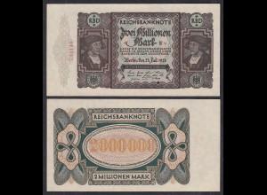 Ro 89b 2 Millionen Mark 1923 Pick 89 aUNC (1-) FZ: E - BZ: v (29555