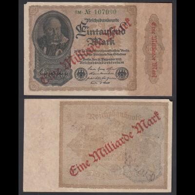 Ro 110b 1 Milliarde Mark 1923 Pick 113 FZ: M BZ: 8 (29629