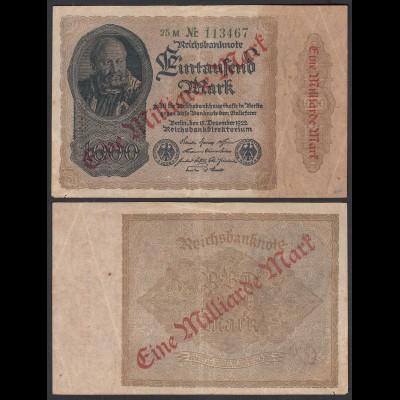 Ro 110b 1 Milliarde Mark 1923 Pick 113 FZ: M BZ: 25 mit Nr. (29630
