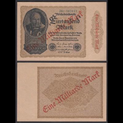 Ro 110f 1 Milliarde Mark 1923 Pick 113 FZ: C BZ: 50 UNC (1) (29634