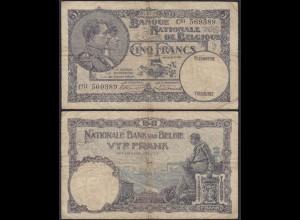 Belgien - Belgium 5 Francs Banknote 02.07.1929 C11 Pick 97 F (13312