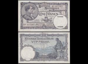 Belgien - Belgium 5 Francs Banknote 13.05.1927 - I08 Pick 97 XF (13311