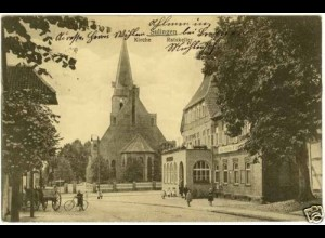 AK Sulingen Hotel Ratskeller Kirche Strasse (2124