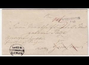 Preussen - Weissensee Langstempel Brief nach Greussen 19. Jahrhundert ( d655