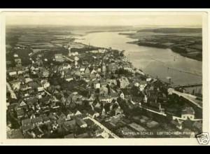 AK Kappeln-Schlei.Luftschiff-Foto Hafen Meerbusen (2093