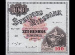 Sweden - Sveriges 100 Kronor 1961 (11483