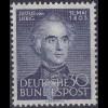 BRD Bund Justus Liebig 1953 Mi. 166 ** Mi. 50 € (c386