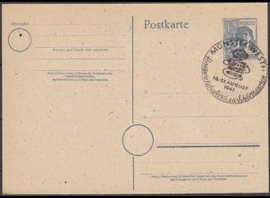 Münster Sonderstempel 1947 Hauswirtschaft Schloßgarten selten (4422
