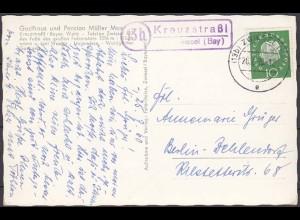 AK Karte Posthilfstelle/Landpost Kreuzstraßl über Zwiesel 1960 (4427