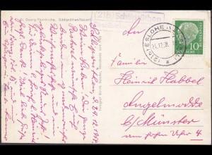 AK Karte Posthilfstelle Landpost Schliprüthen über Eslohe 1958 (4428