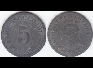 5 Pfennig Notgeld Münze Kriegsgeld Stadt Cassel 1917 (4148