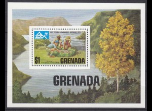 GRENADA Pfadfinder SCOUTS seltener Block 1975 ** (5265