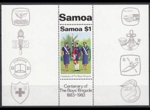 Samoa Pfadfinder SCOUTS Block 1983 ** (5268