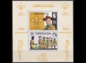 GRENADA Pfadfinder SCOUTS seltener Block 1972 ** (5280