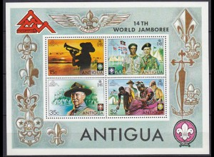 Antigua Pfadfinder SCOUTS Block S/Sheet ** MNH (5282