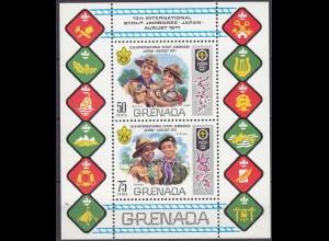 GRENADA Pfadfinder SCOUTS Block 1971 ** (5283