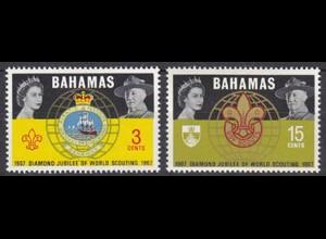 BAHAMAS Pfadfinder SCOUTS Satz SET 1967 ** (5287