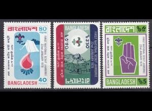Bangladesh Pfadfinder Scouts Satz Set ** MNH 1978 (5293