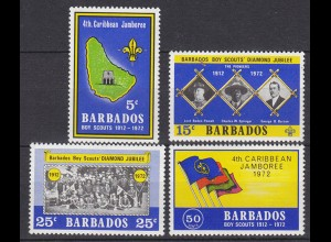 Barbados Pfadfinder SCOUTS Satz SET 1972 ** (5296