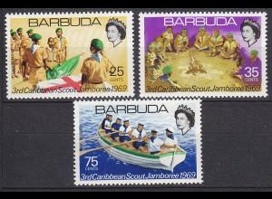 Barbuda Pfadfinder SCOUTS seltener Satz SET 1969 ** (5298