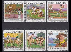 COOK ISLANDS Pfadfinder SCOUTS Satz SET 1969 ** (5304