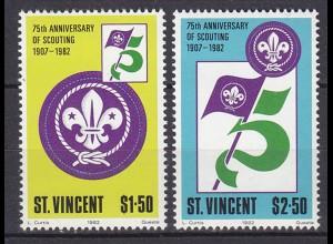 ST VINCENT Pfadfinder SCOUTS Satz SET 1982 ** (5328