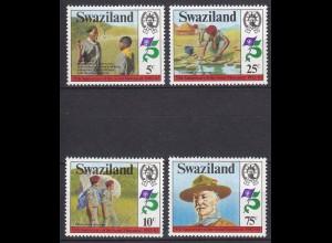 SWAZILAND Pfadfinder SCOUTS Satz SET 1982 ** (5329