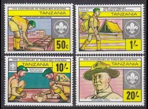 Tansania - Tanzania Pfadfinder SCOUTS Satz SET 1982 ** (5330
