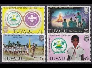 TUVALU Pfadfinder SCOUTS Satz SET 1982 ** MNH (5335