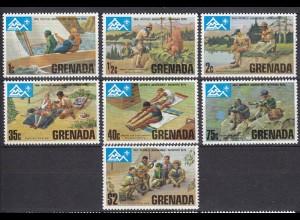 Grenada Pfadfinder SCOUTS seltener Satz 1975 ** MNH (5344