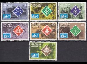 Grenada Grenadines Pfadfinder SCOUTS Satz Norwegen 1975 ** (5345
