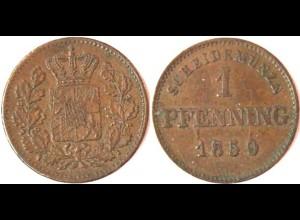 1 Pfennig Bayern 1859 vz AKS Nr. 161 (5565