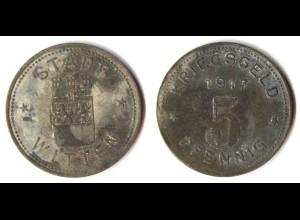 5 Pfennig Notgeld Münze Witten Ruhr 1917 (5613