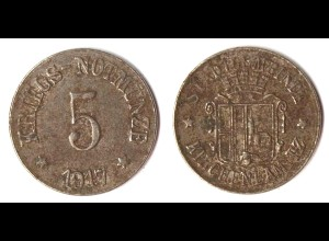 5 Pfennig Kriegs-Notgeld Münze Gemeinde Kirchenlamitz 1917 (5616