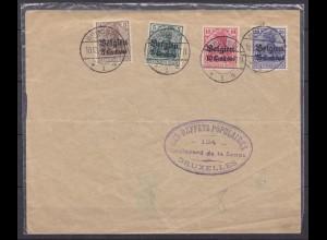 Brief Deutsche Bes. Belgien OCCUPATION BELGIUM WW1 (5704