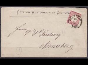 Brief Gottlob Wunderlich Zschorpad nach Annaberg (5771