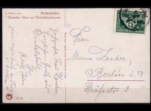 Deutsches Reich Michel 370 Einzelfrankatur auf Karte Dinkelsbühl (5800