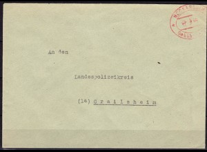 Neckarsulm Gebühr bezahlt 1946 Polizei (5990