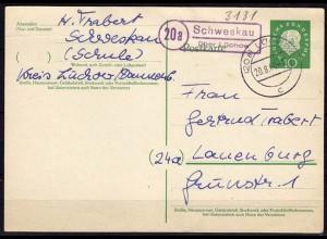 Karte Posthilfstelle Schweskau über Lüchow 1960 (6031