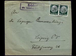 Brief Posthilfstelle/Landpost Hesedorf über Rotenburg nach Leipzig (6076