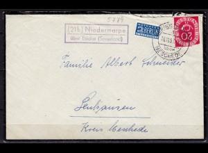 Brief Posthilfstelle/Landpost Niedermarpe ü Eslohe Meschede 1953 (6082