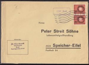 Brief Posthilfstelle/Landpost Rodt über Trier nach Speicher (6087