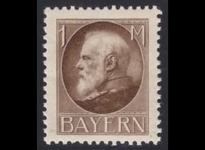 Bayern Bavaria 1 Mark Mi.Nr. 104I * geprüft Helbig BPP (10403
