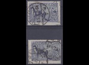 Deutsches Reich DR Mi. 176 a + b gest. gepr.Infla (10452