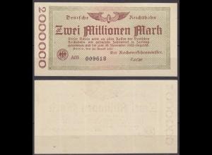 Reichsbahn Berlin 2 Millionen Mark 1923 (10647