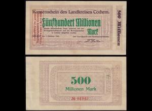 Rheinland - Cochem 500 Millionen Mark 1923 Notgeld VF (14689